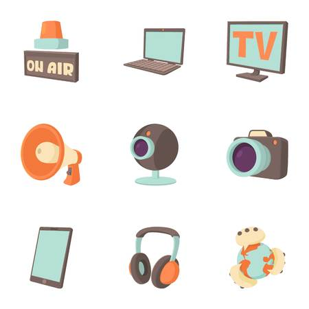 tidings: Tidings icons set. Cartoon illustration of 9 tidings vector icons for web