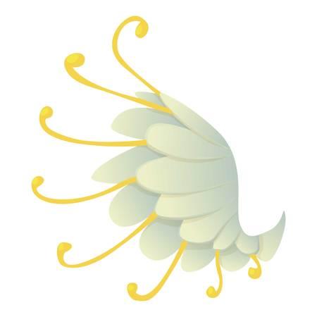 Icono de ala, estilo de dibujos animados Ilustración de vector