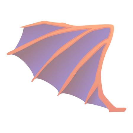 Dragon wing icon, cartoon style Illustration