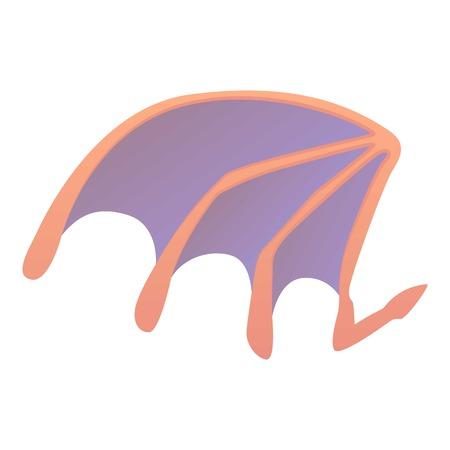 Bat wing icon, cartoon style