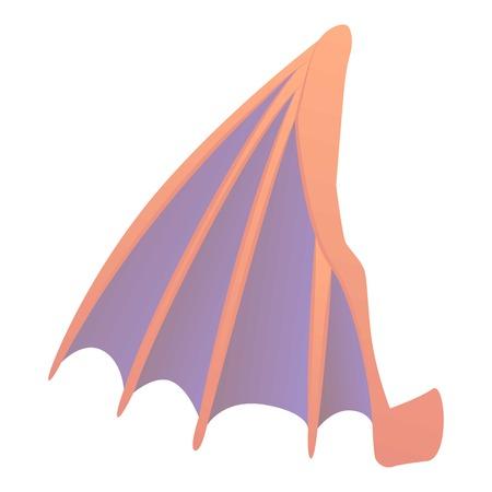 Big wing icon, cartoon style