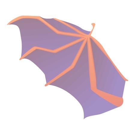 Waving wing icon, cartoon style