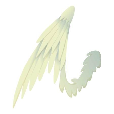 straighten: Bird wing icon, cartoon style