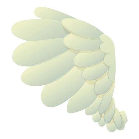 straighten: Dove wing icon, cartoon style