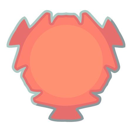 Tag icon, cartoon style