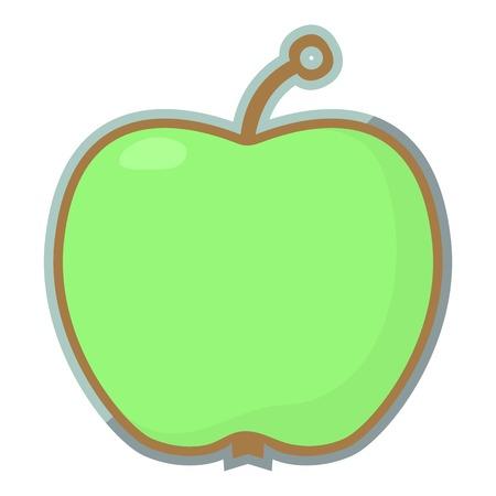Apple tag icon, cartoon style Illustration
