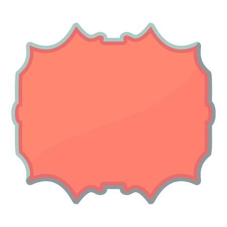 pasteboard: Empty label icon, cartoon style Illustration