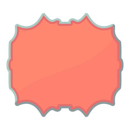 Empty label icon, cartoon style Illustration