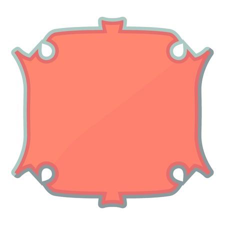 Paper label icon, cartoon style Illustration