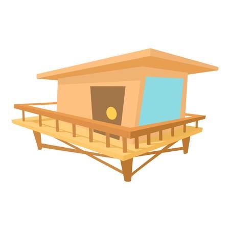 Stilt house icon, cartoon style