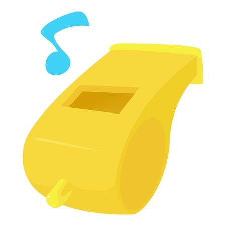 Fluitje pictogram, cartoon stijl