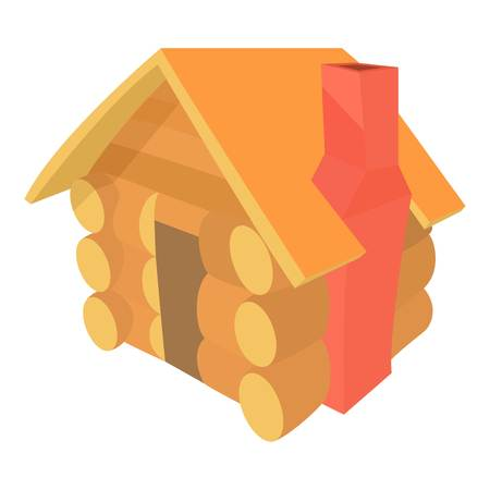 forest wood: Small hut icon, cartoon style