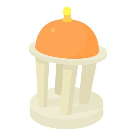 Rotunda icon, cartoon style