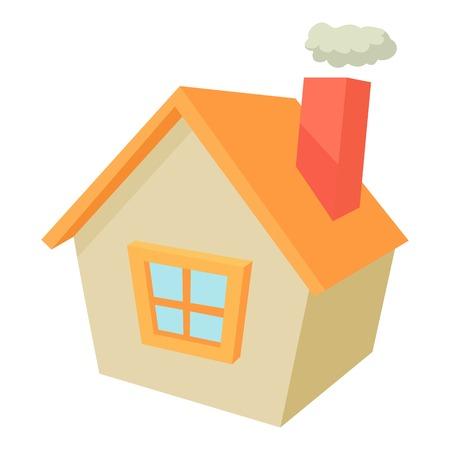 suburban: House icon, cartoon style