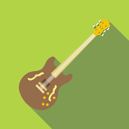 solo: Electric guitar icon, flat style Illustration