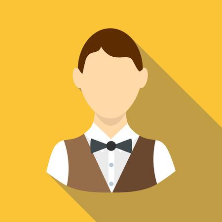 Croupier icon, flat style
