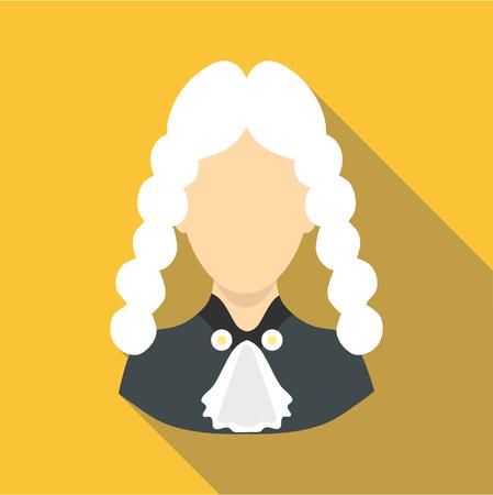 courthouse: Judge icon, flat style