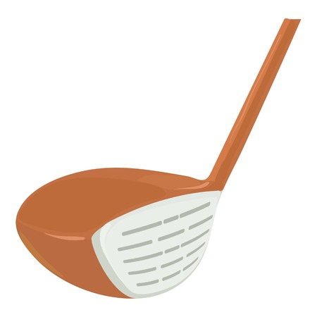 silver grass: Golf stick icon, cartoon style