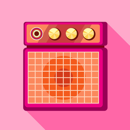 sound speaker: Sound speaker icon, flat style Illustration