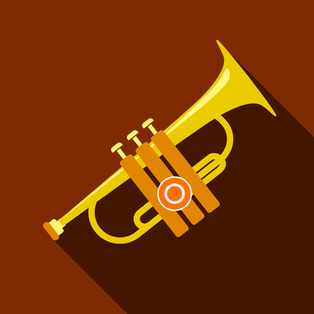 solo: Trumpet icon, flat style