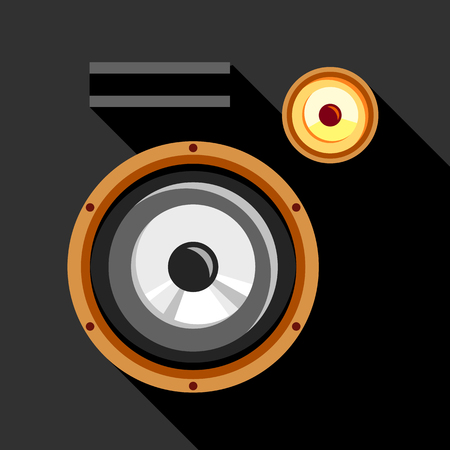 Audio speaker icon, flat style