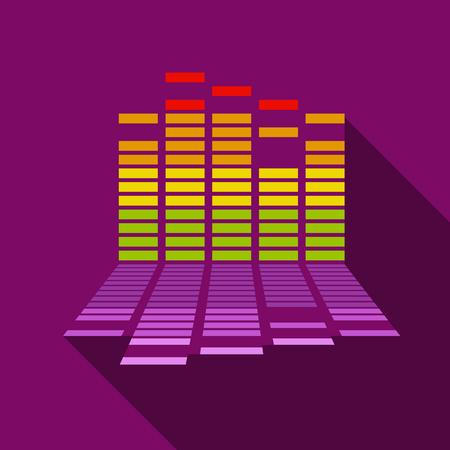 fiestas electronicas: Icono de ecualizador, estilo plano