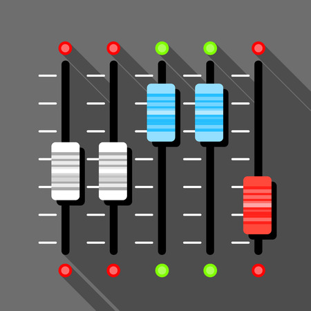 Sound mixer pult icon, flat style