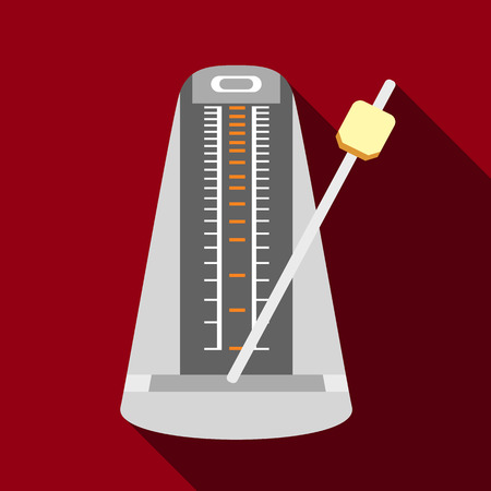 Metronome icon, flat style Illustration