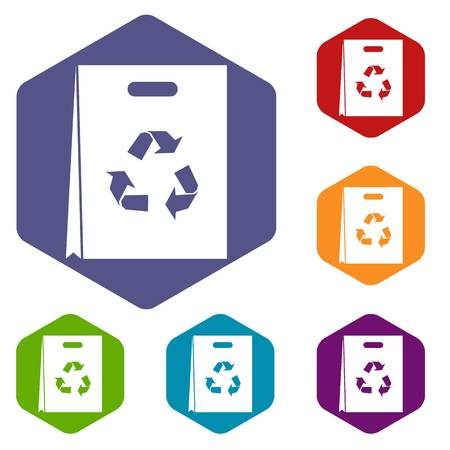recycling: Package recycling icons set Illustration