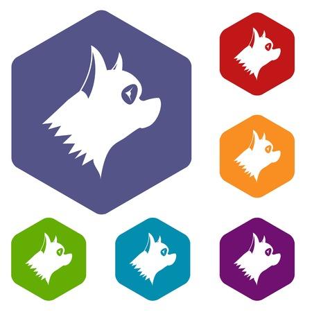 doggies: Pinscher dog icons set
