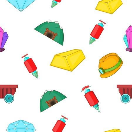 Mine pattern, cartoon style