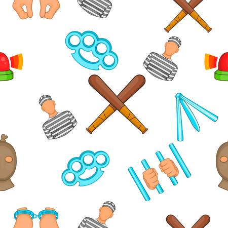 murder scene: Crime pattern. Cartoon illustration of crime vector pattern for web Illustration