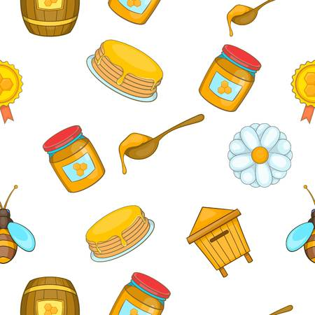 contemporary taste: Honey pattern, cartoon style Illustration
