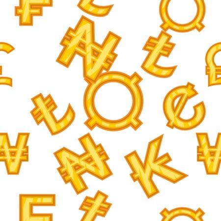 돈 패턴입니다. 웹에 대 한 돈 벡터 패턴의 만화 그림 일러스트