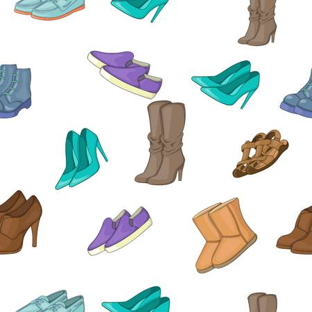 Shoes pattern, cartoon style
