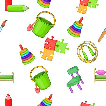 Education of child pattern, cartoon style