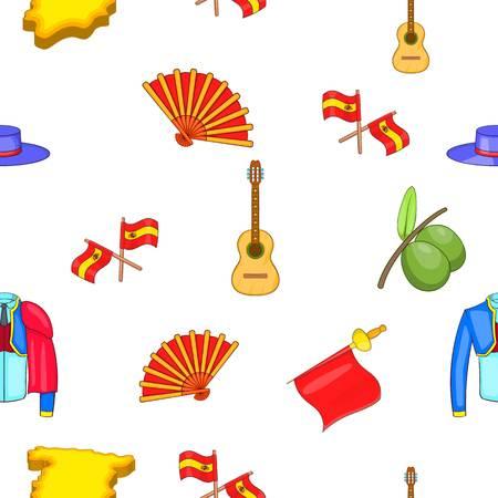 Spain pattern, cartoon style