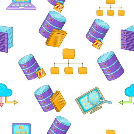 computer repair: Computer repair pattern, cartoon style