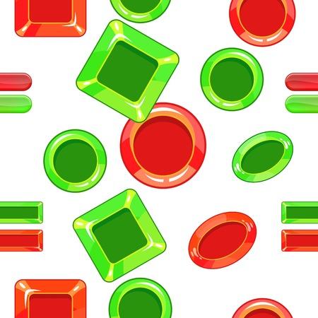 Choice pattern, cartoon style Illustration
