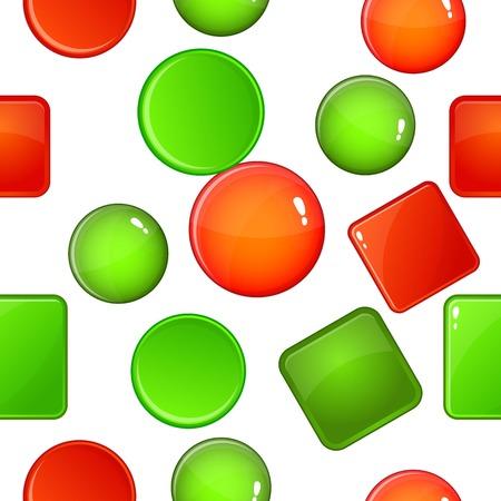 Button types pattern, cartoon style