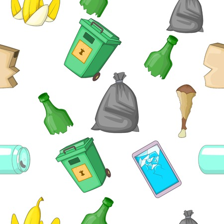 tin can phone: Waste pattern, cartoon style