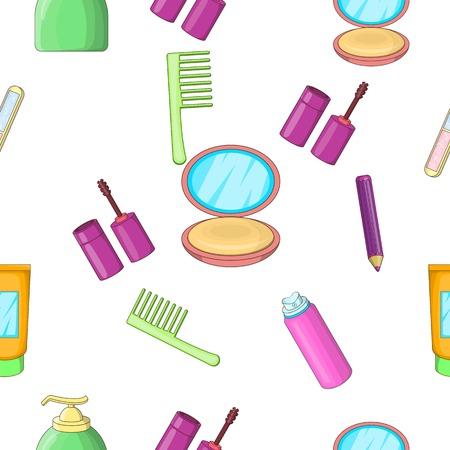 textile care: Face care pattern, cartoon style