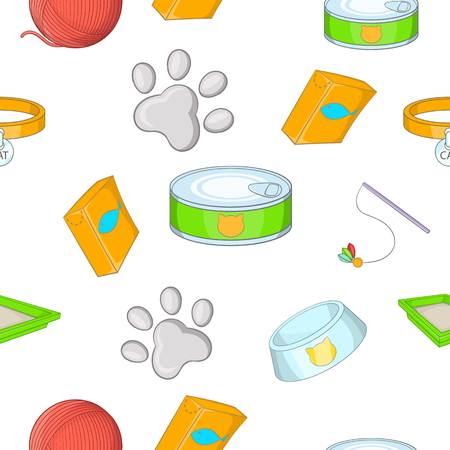 Cats pattern, cartoon style