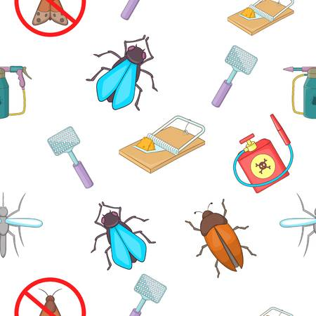 Insects pattern, cartoon style Illustration