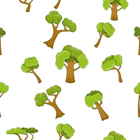 Trees pattern, cartoon style