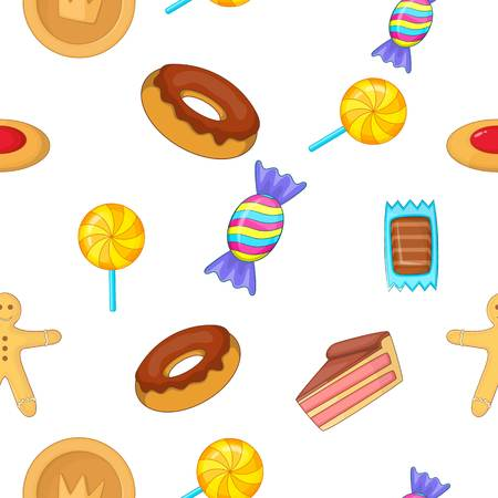 Sweets pattern, cartoon style Illustration