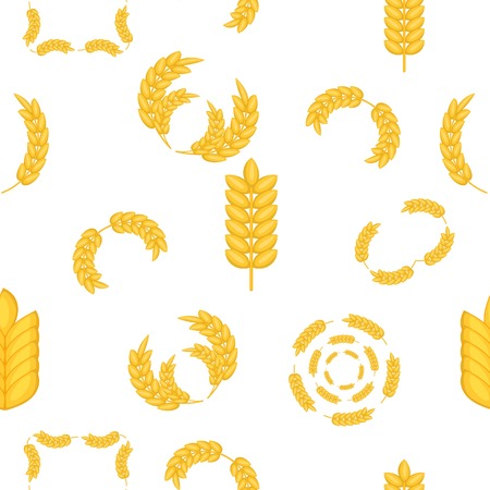 Grain of wheat pattern. Cartoon illustration of grain of wheat vector pattern for web Illustration