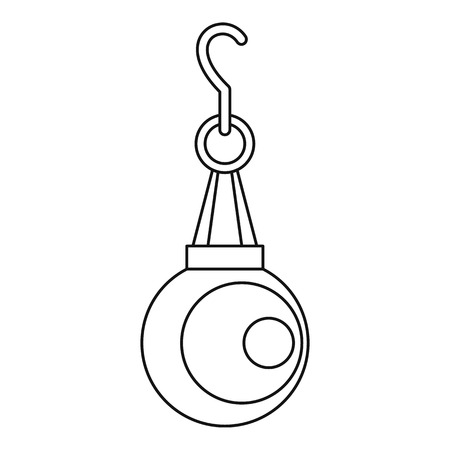 pendant: Pearl pendant icon, outline style