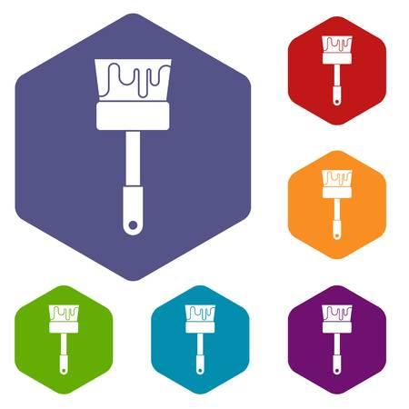 house painter: Paint brush icons set