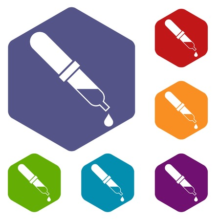 Pipette icons set